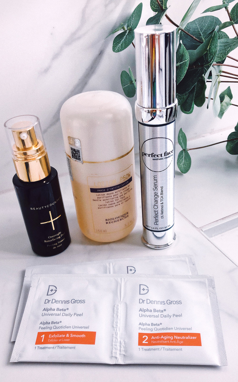 Anti Aging Skincare Peel Exfoliators Beauty Counter DrZoe Perfect Face Retinol Biologique Recherche Lotion P50W