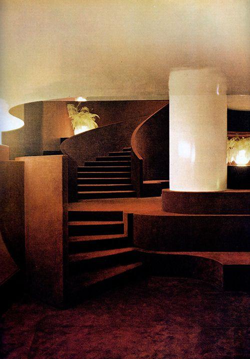 Gae Aulenti, Basement of the Principe di Savoia Hotel, Circa 1965.jpg