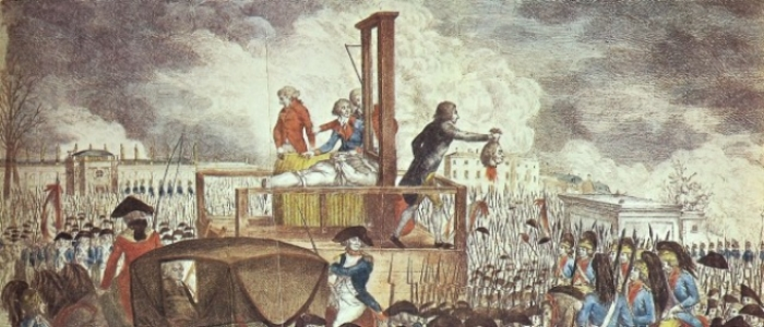 "George Heinrich Sieveking, ""Execution of Louis XVI"" (1793)"