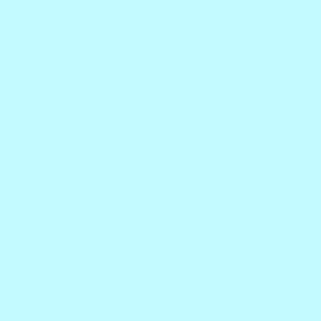 Pale Blue   HEX: #C2FAFF   RGB: 194, 250, 255   CMYK: 19, 0, 3, 0