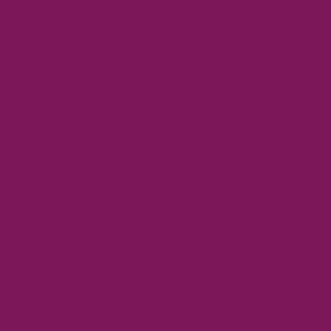 Magenta  HEX: #7c185a RGB: 124, 24, 90 CMYK: 49, 100, 35, 20