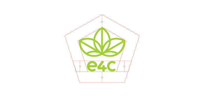 Clear Space:     The e4c logo should always be surrounded by a minimum area of clear space. No other visual elements may enter the clear space. Care should be taken whenever laying the logo over a colour, background or image.