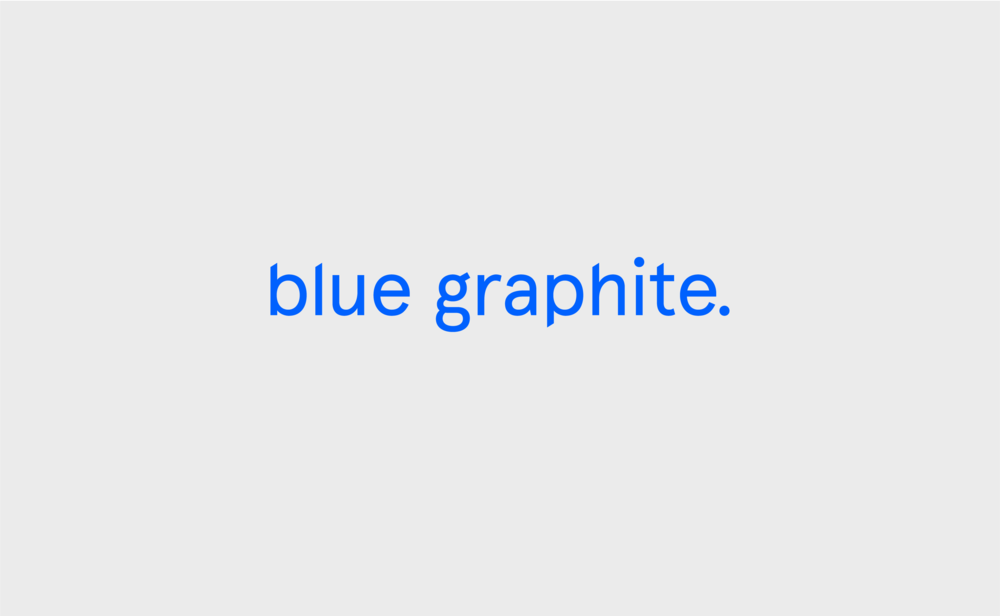 BLUE GRAPHITE PRIMARY WORDMARK