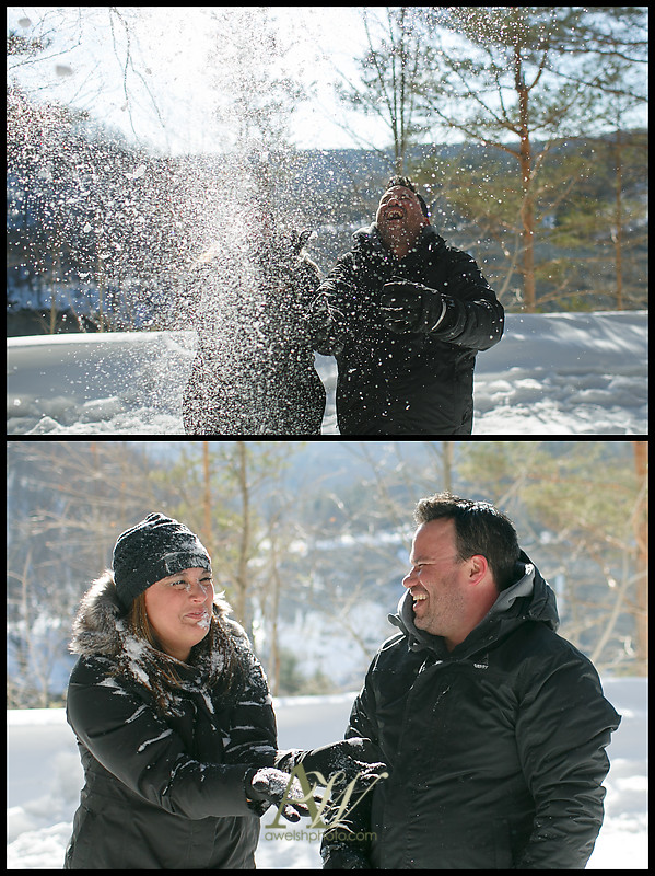 A minor snow-throwing mishap