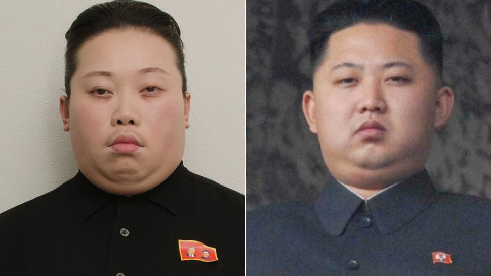 ตัดทรงผู้นำเกาหลี ไถสูง เสยแบบแสกกลางไปข้างหลัง.. หาชุดดำแบบข้าราชการปกสูง ติดกระดุม ทำหน้าไม่รับมิตร.. แบะชั้นไขมันที่คาง เพื่อความสมจริง