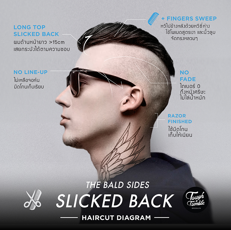 BALD-SIDES SLICKED BACK