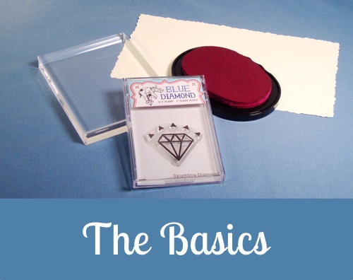 Step by step instructions on using your Blue Diamond clear stamps.