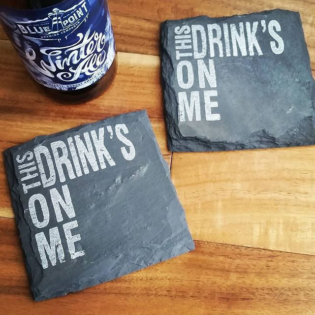 Recently I've been having the pleasure of working with talented maker, Danielle of @scatteredtreasures, on creating custom stamps for her use on these fantastic slate coaster sets.  I love the designs and how they translate on the textured surface! 📷:@scatteredtreasures