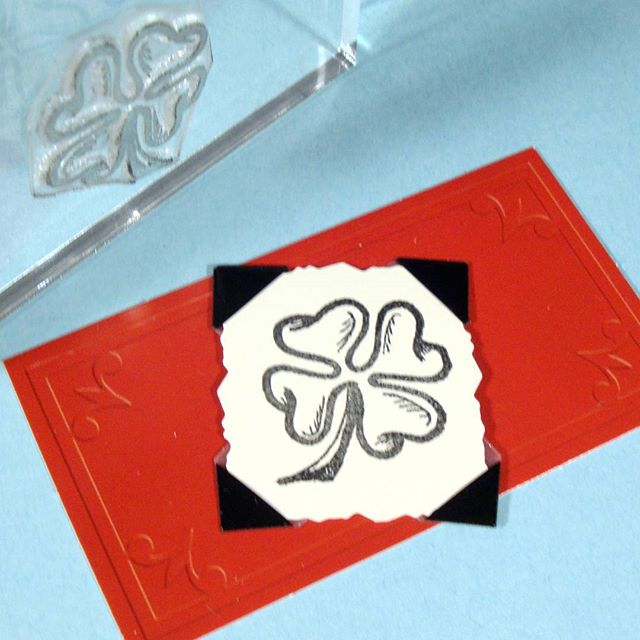 Spread some good luck with this lucky clover stamp! In stock in the Etsy shop and ready to ship. #stpattysday #goodluck #fourleafclover