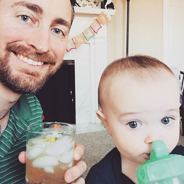 Just a couple of dudes, celebrating St. Patrick's Day! #fatherson #blimeymydrinkislimey #waterforthelad #memoriesmonday