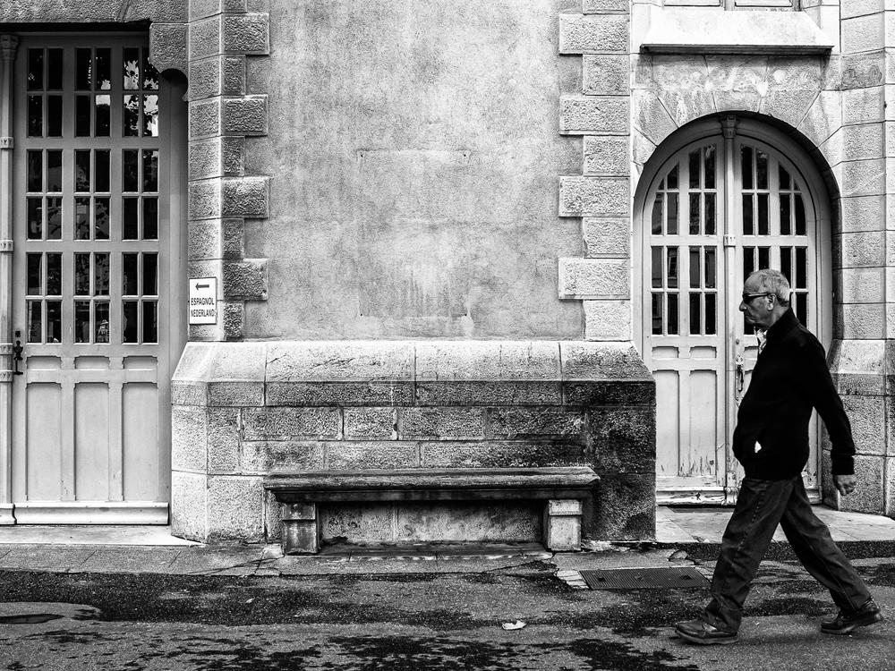 lone man in Lourdes