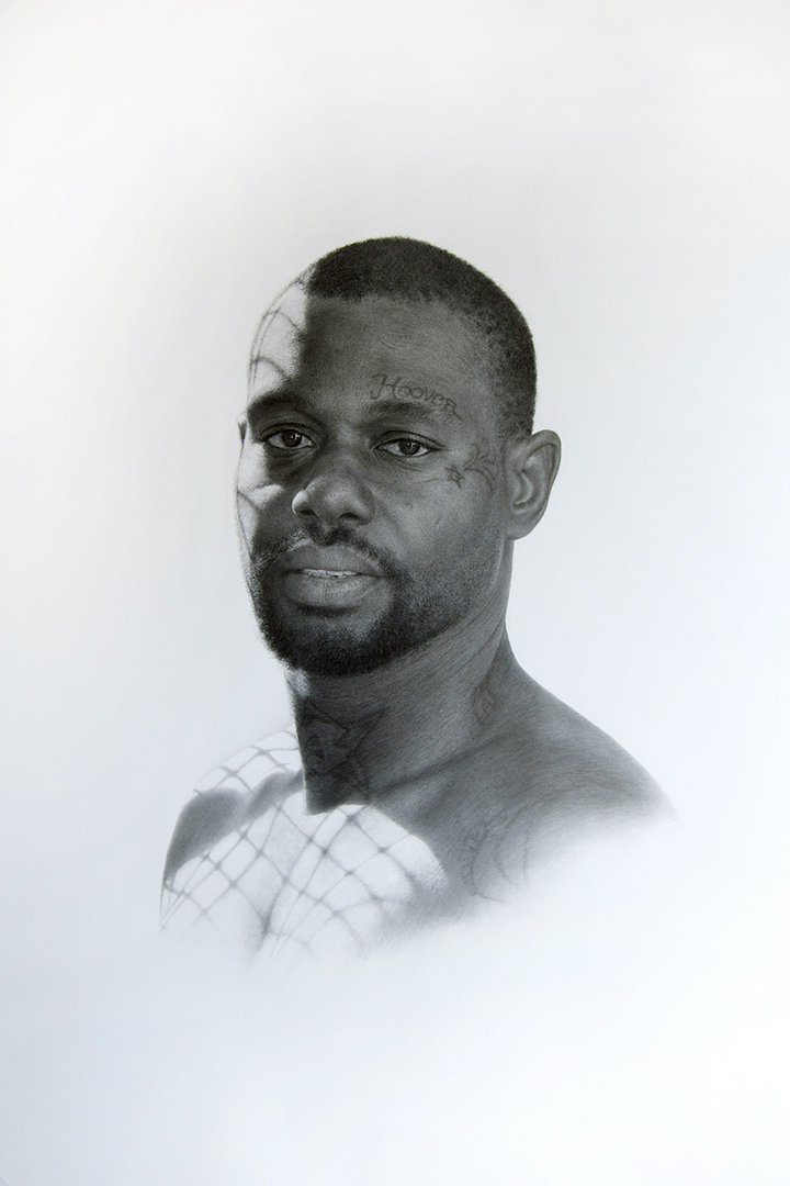 Patrick Lee, Deadly Friends (Hoover), 2013, graphite on paper, 40 x 30 inches