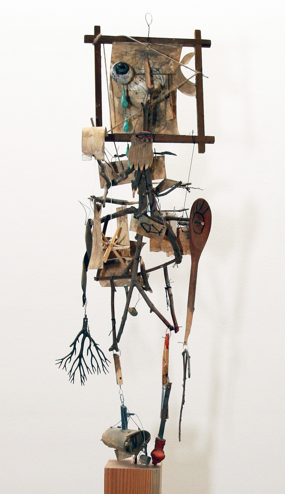 Wayne White, Explorer 2011, mixed media, 27 x 9 x 10 inches