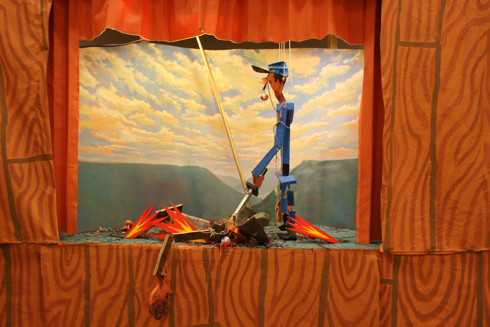Detail from Rebel vs. Yankee puppet show at Western Project 2011