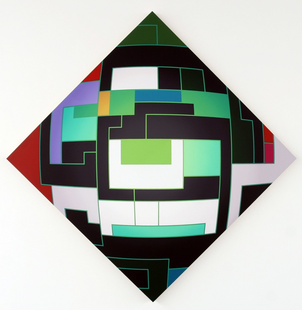Thomas Burke, Electric, 2012, acrylic on panel, 82 x 82 x 2.25 inches