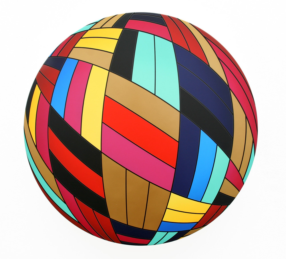 Thomas Burke, Louie, 2012, acrylic on canvas, 28 inches diameter