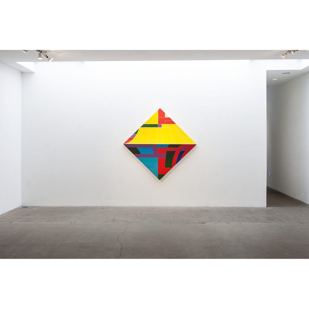 Thomas Burke, With Pleasure, 2015 acrylic on panel, 68 x 68 inches; installed at Western Project