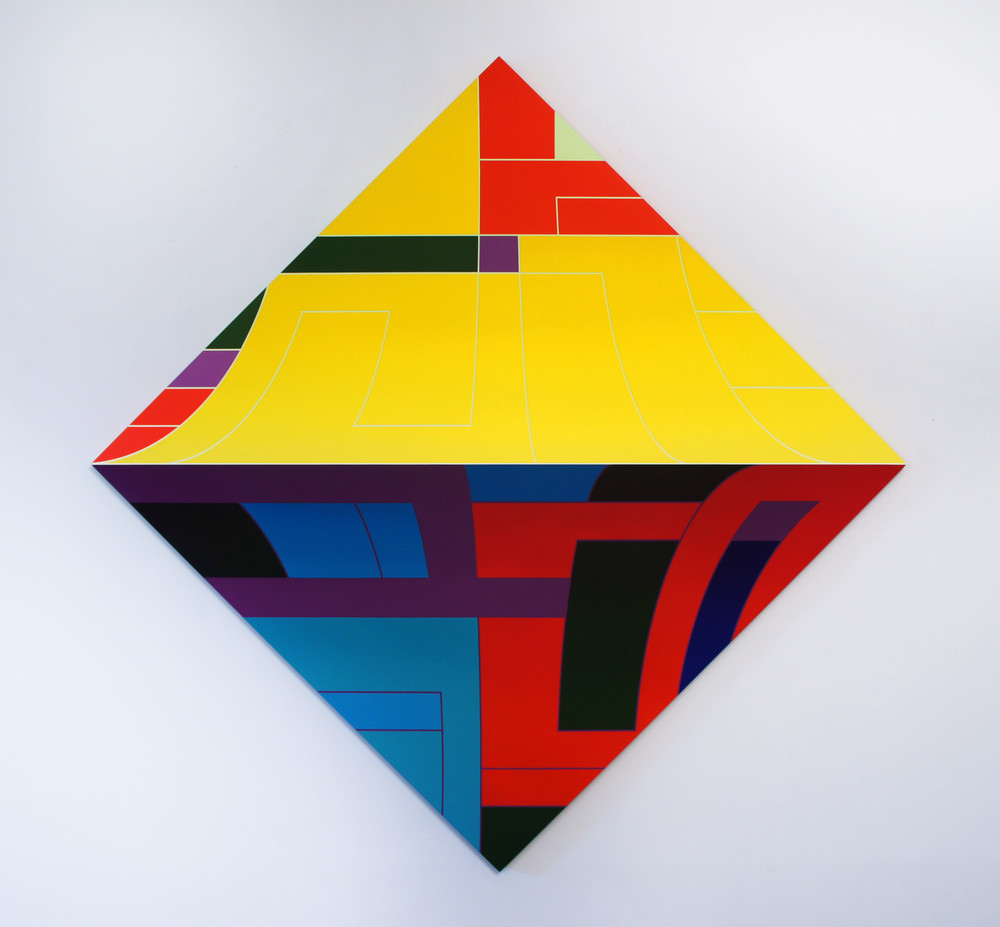 Thomas Burke, With Pleasure, 2015 acrylic on panel, 68 x 68 inches