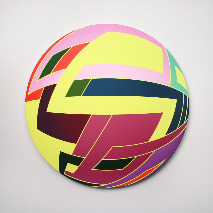 Thomas Burke, Untitled, 2013, acrylic on canvas, 25 inches diameter