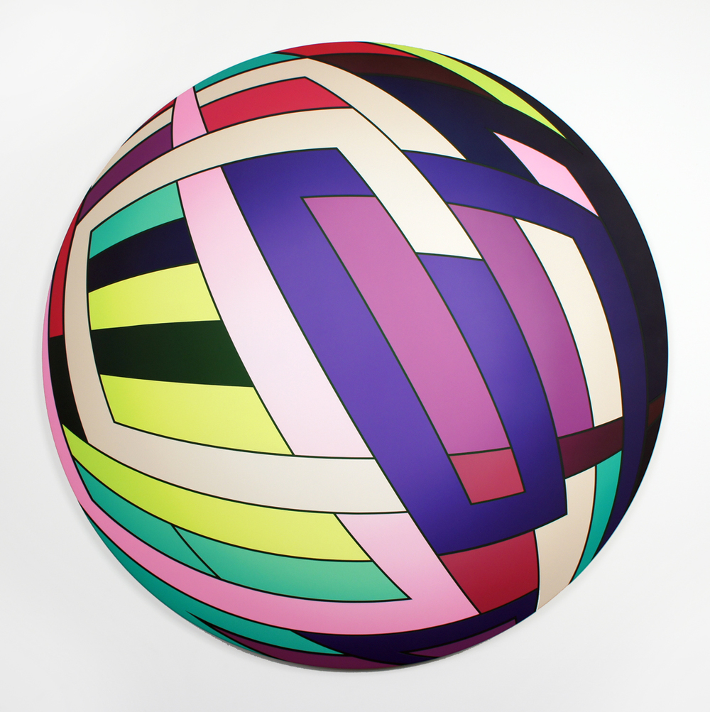 Thomas Burke, Jelly, 2013, acrylic on canvas, 54 inch diameter
