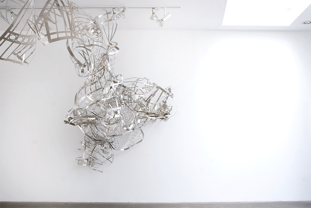 MARGARET GRIFFITH, Spout, 2014, Waterjet cut aluminum, dimensions variable