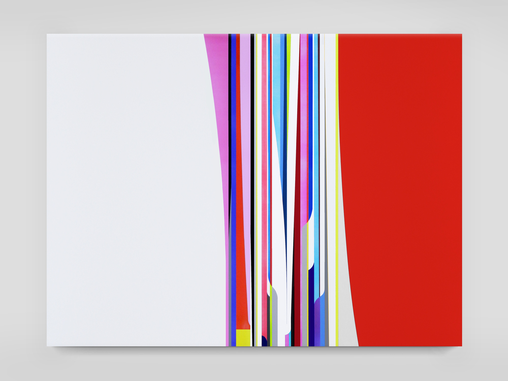 DION JOHNSON, Race Car, 2015, acrylic on canvas, 60 x 80 inches