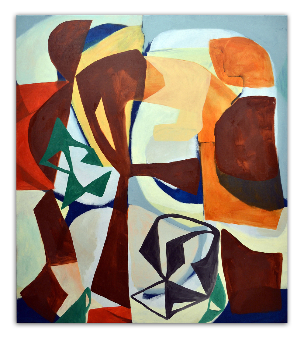 TIM FORCUM, Ivanhoe Silver, 2013, oil on canvas, 72 x 64 inches
