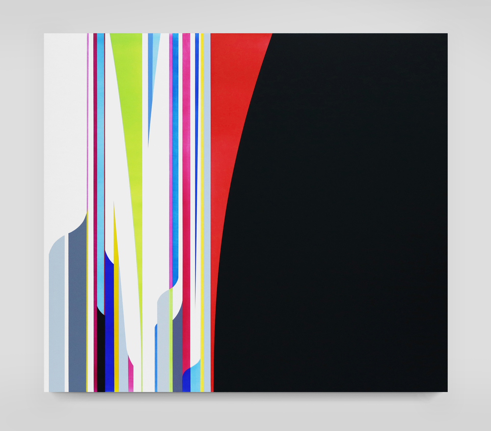 DION JOHNSON, Night Light, 2015, acrylic on canvas, 32 x 36 inches