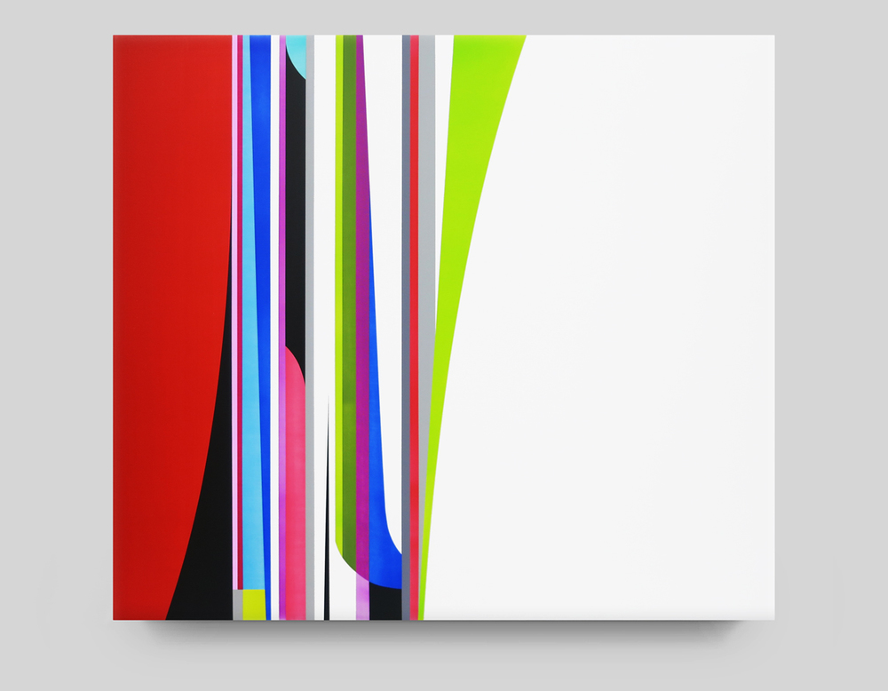 DION JOHNSON, Dazzle, 2015, acrylic on canvas, 32 x 36 inches