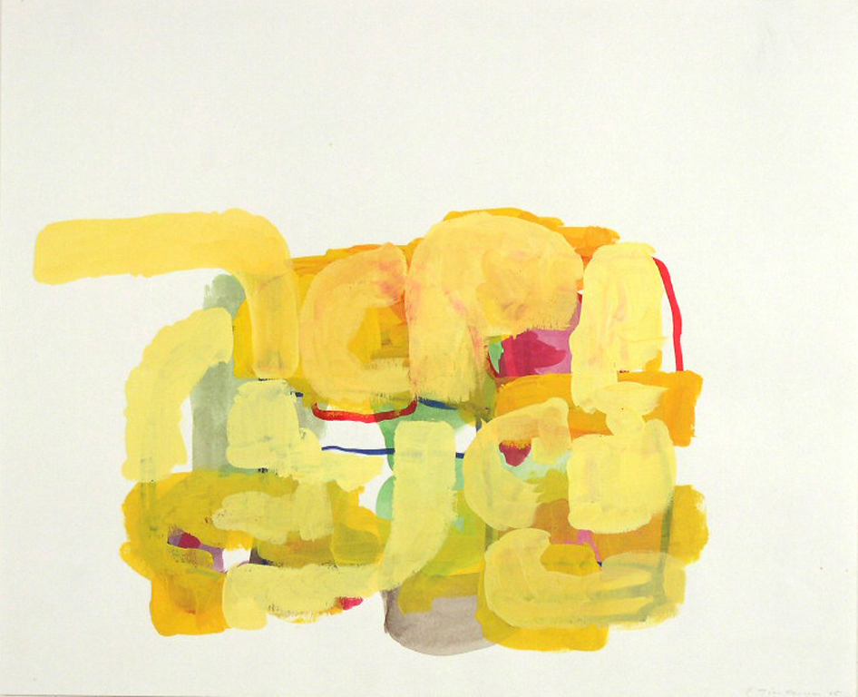 Tim Forcum, Connection to the Lives That Oppose, 2005, gouache on paper, 17.5 x 21.5 inches