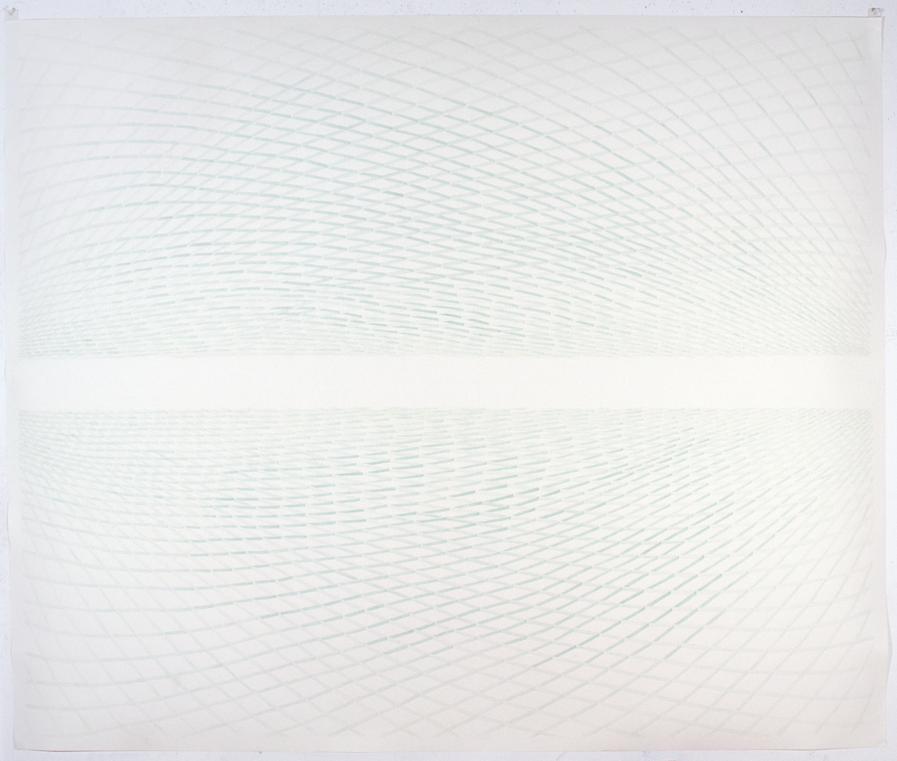 MARGARET GRIFITH, Green Sway, 2012, ink on paper, 60 x 72 inches