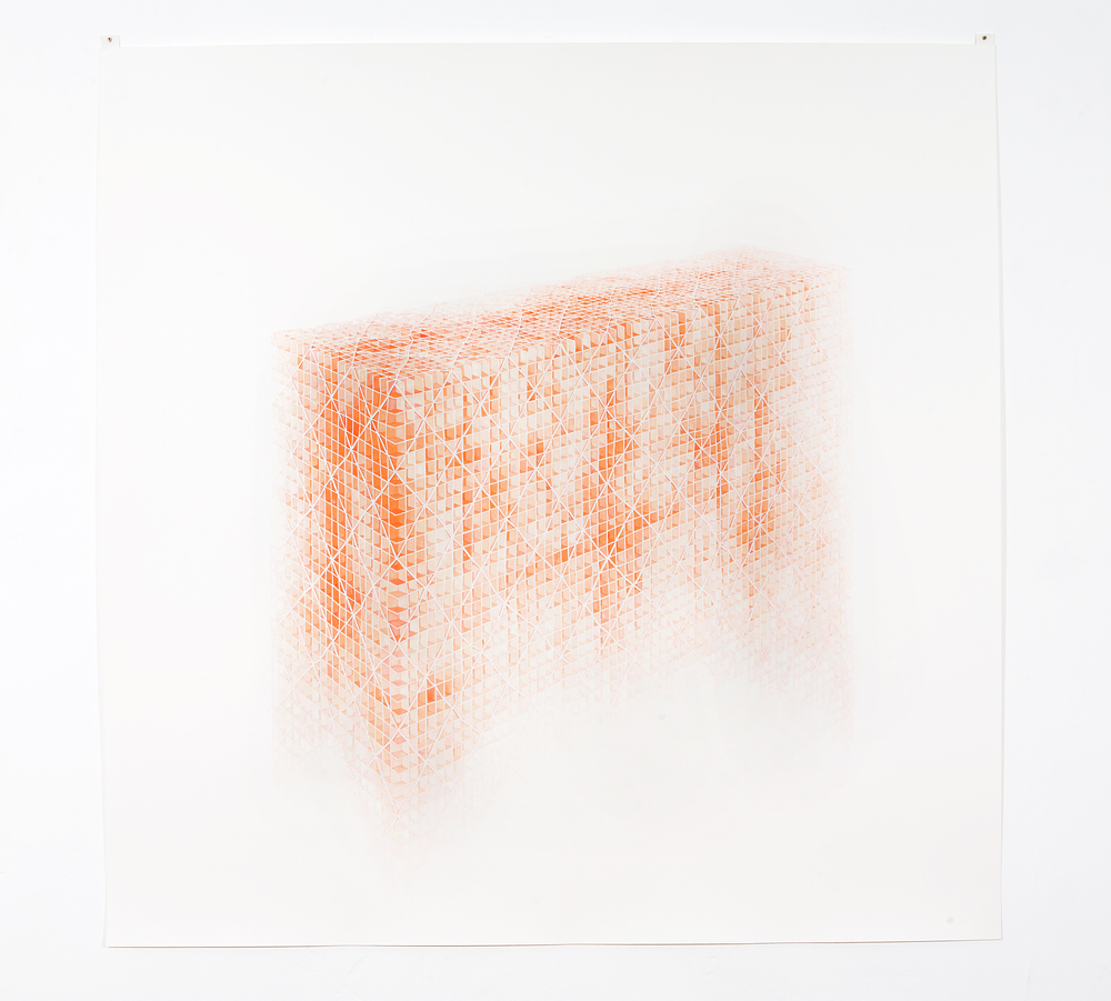 MARGARET GRIFFITH, Net, 2005, ink on paper, 47 x 47 inches