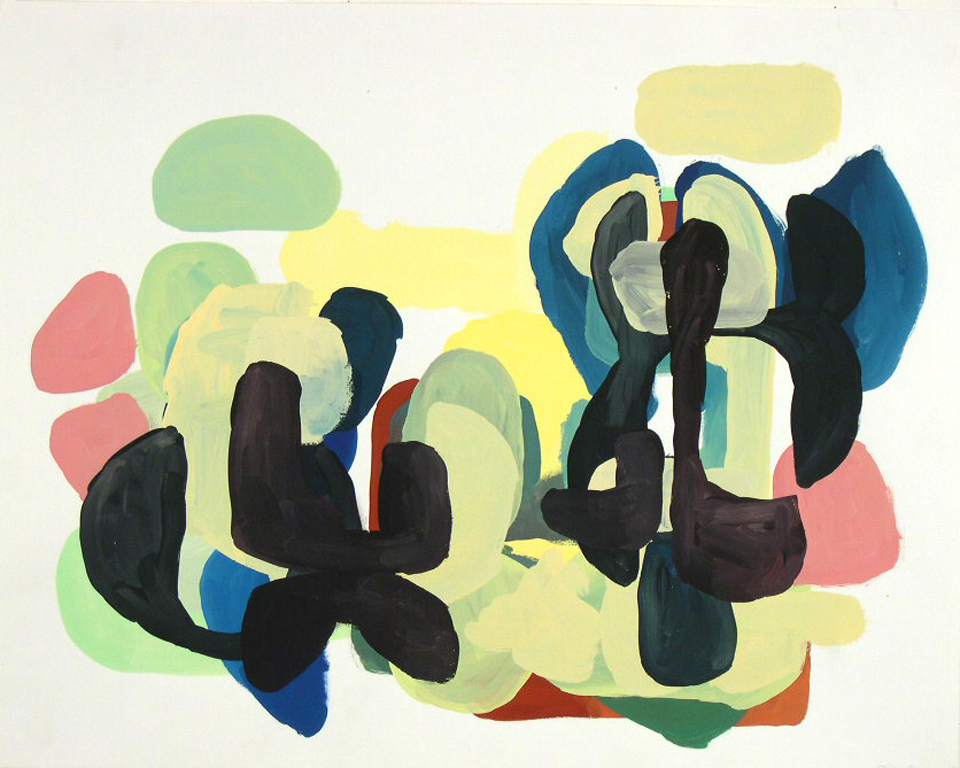 Tim Forum, When and Where, 2005, gouache on paper, 19 x 24 inches