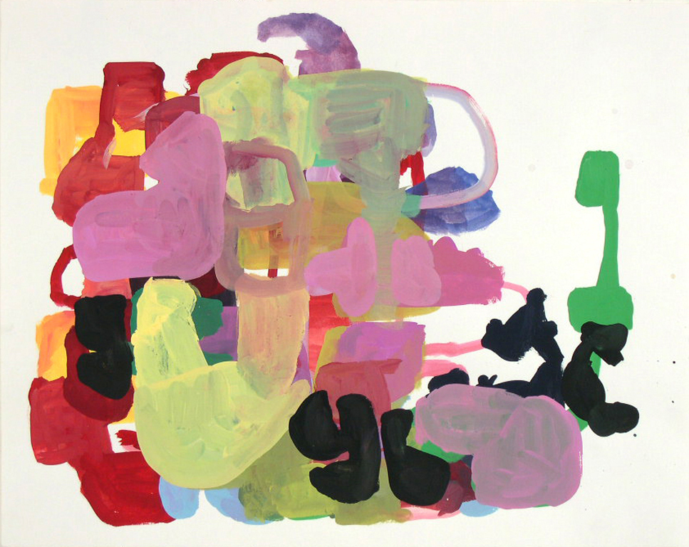 TIM FORCUM, Up Against, 2005, gouache on paper, 19 x 24 inches