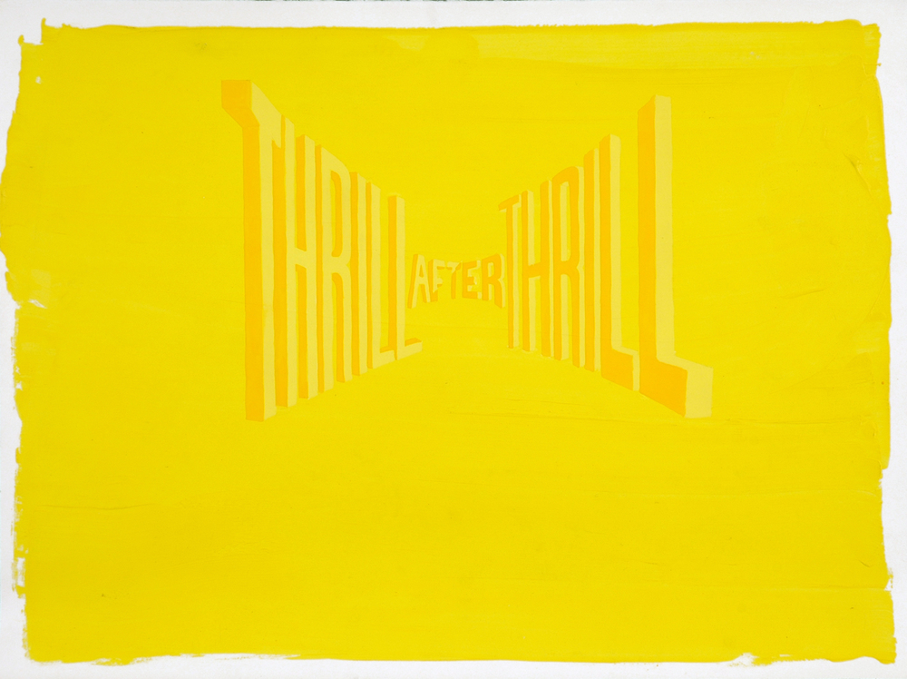 WAYNE WHITE, Thrill After Thrill, 2007, acrylic on paper, 18 x 24 inches