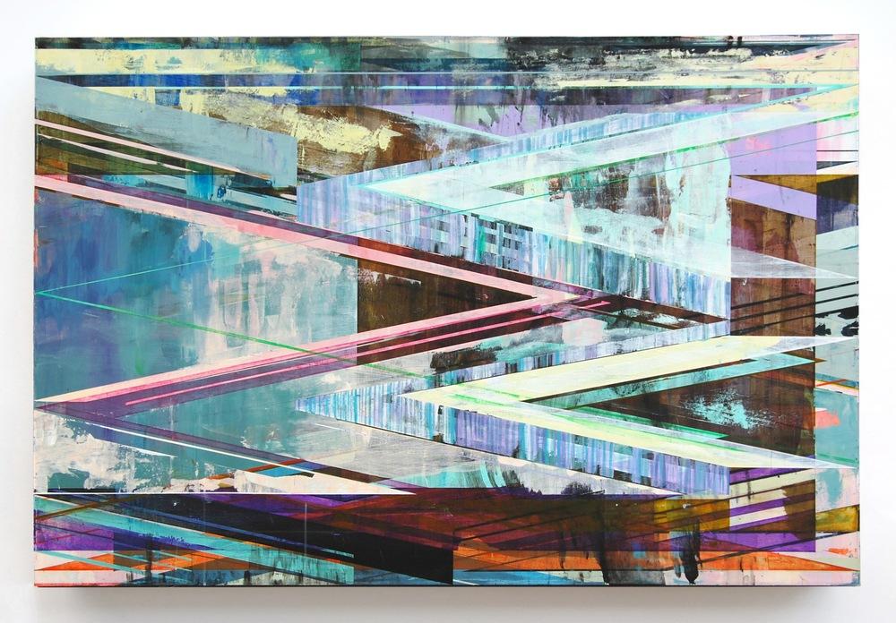JOE LLOYD, Span, 2015, acrylic on canvas, 42 x 64 inches