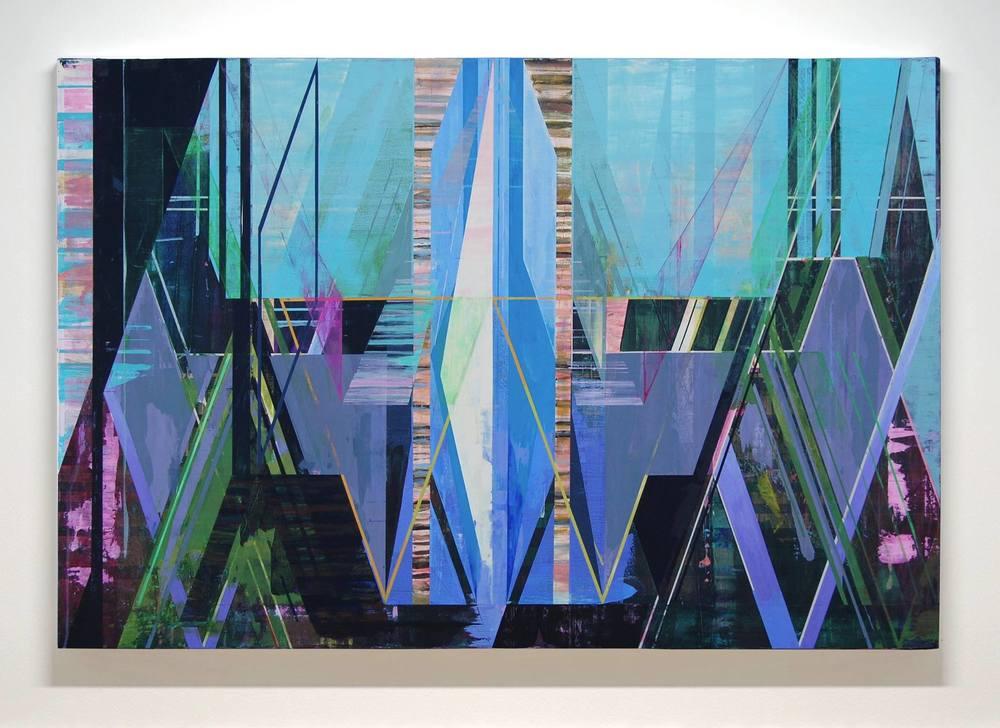 JOE LLOYD, Wing, 2015, acrylic on canvas, 42 x 63 inches