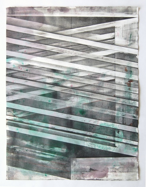 JOE LLOYD, Graphite Drawing 4, 2015, graphite, ink, acrylic, on paper, 26.5 X 20 inches