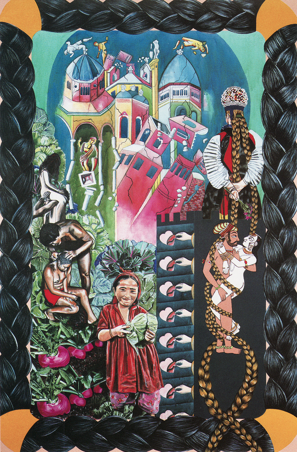 CAROLE CAROOMPAS, Fairy Tales: Rapunzel, 1989 acrylic on canvas 108 x 72 inches
