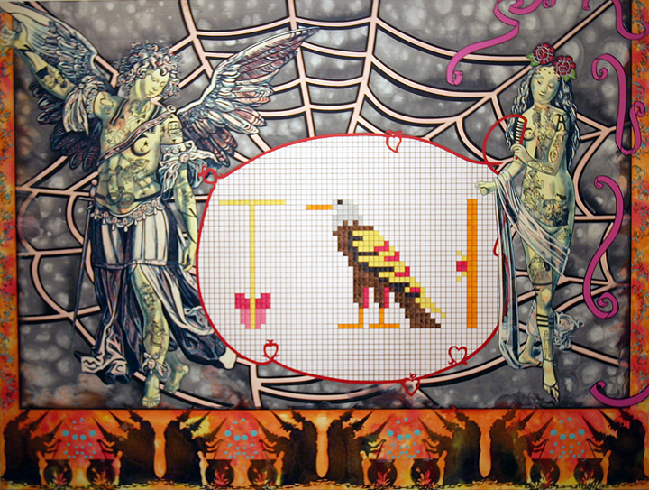 CAROLE CAROOMPAS, Hester and Zorro: In Quest Of A New World: A Living Hieroglyphic, 2000 acrylic on canvas 65 x 84 inches