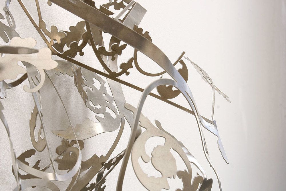 MARGARET GRIFFITH, Hub, (DETAIL), 2013 Aluminum, 30 x 19 x 12 inches