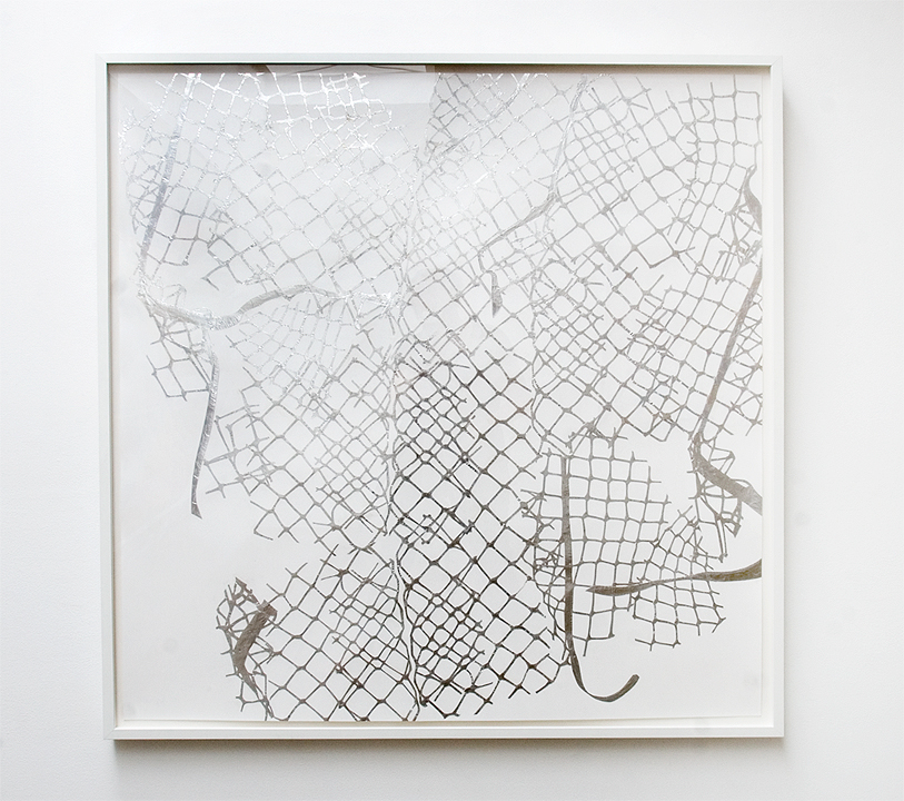 MARGARET GRIFFITH, Morningside, 2014, Foil on paper, 42 x 45 inches / 45 x 48.75 inches framed