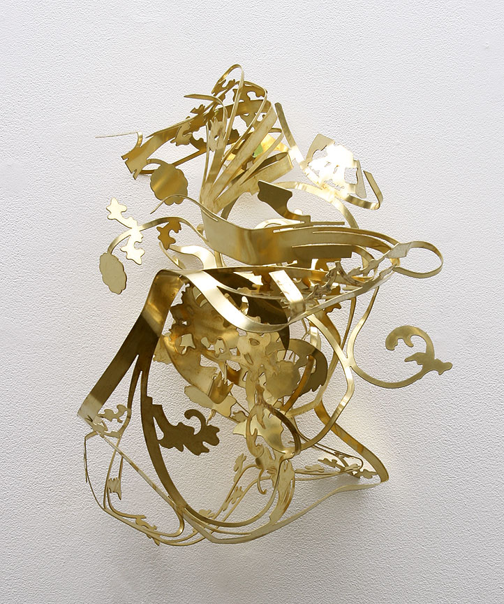 MARGARET GRIFITH, Untitled (brass study), Brass, 18 x 15 x 14 inches
