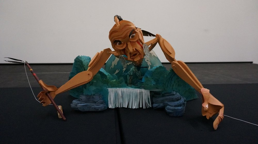 WAYNE WHITE, Dragging Canoe Maquette - Photo by Bo Wheeler