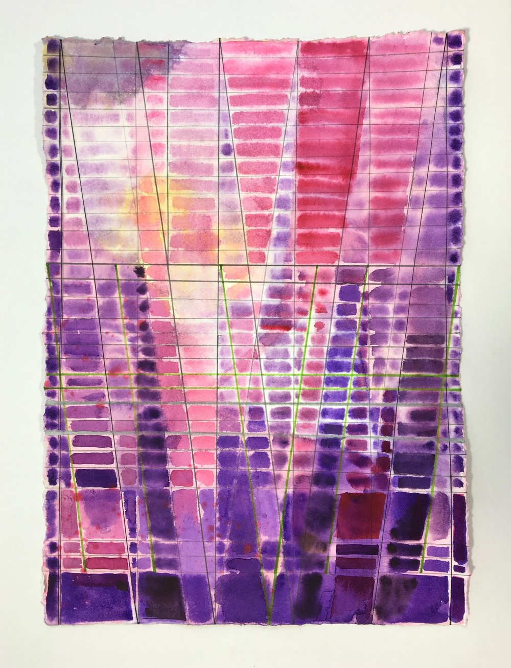 Joe Lloyd, Untitled (Violet), 2017, watercolor on paper, 14 x 11 inches