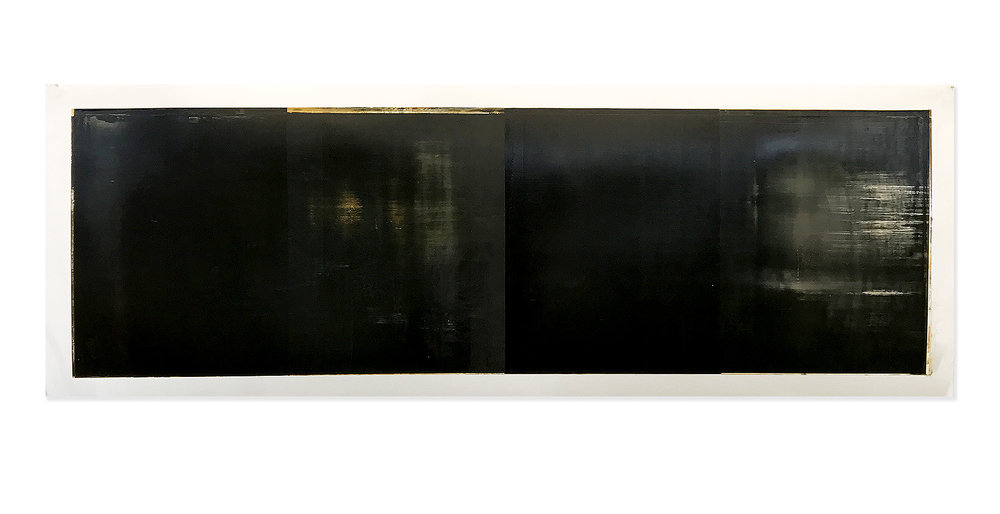 Daniel Brice, OX 44, 2017, oil on paper, 18 x 51 inches