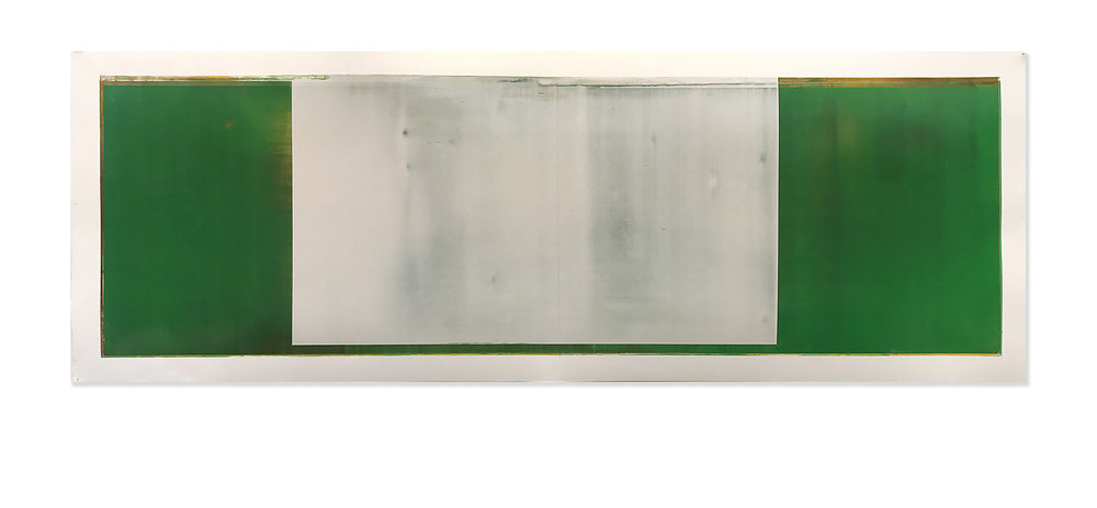 Daniel Brice, OX 42, 2017, oil on paper, 18 x 51 inches