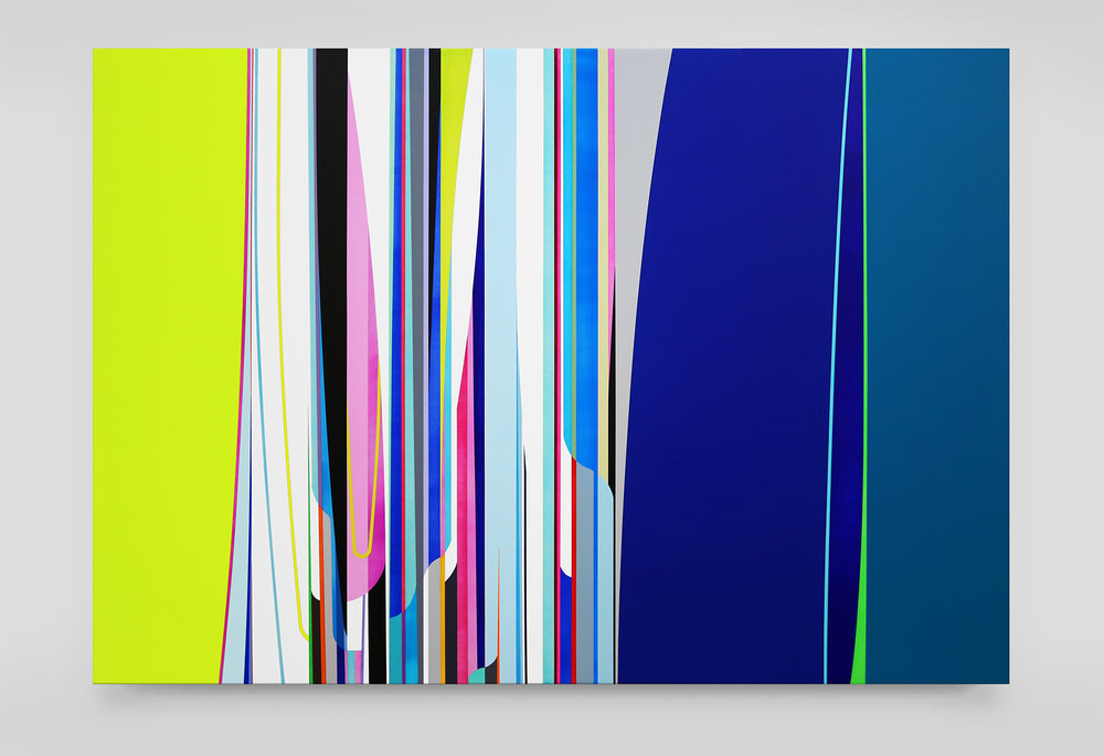 Dion Johnson, Next, 2016, acrylic on canvas, 48 x 72 inches