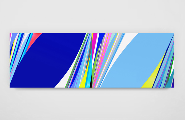 Dion Johnson, Feel the Sky, 2014, acrylic on canvas, 48 x 144 inches