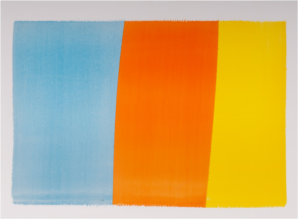 Dion Johnson, Edge, 2008, acrylic on paper, 14.75 x 20 inches